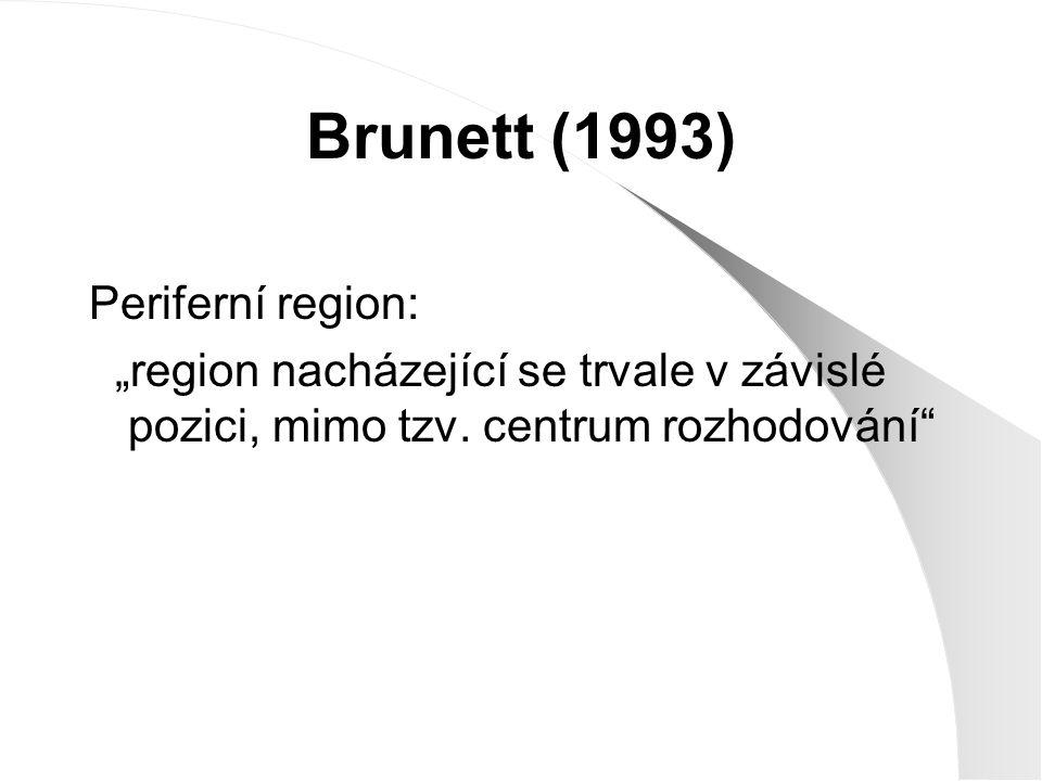 Brunett (1993) Periferní region: