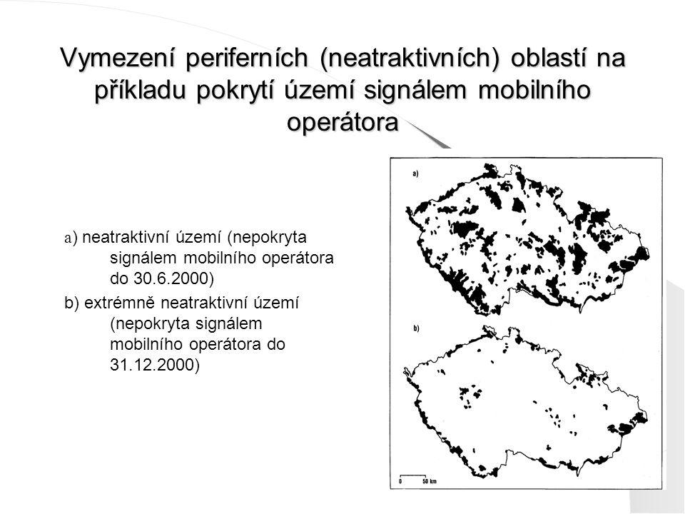 Vymezení periferních (neatraktivních) oblastí na příkladu pokrytí území signálem mobilního operátora