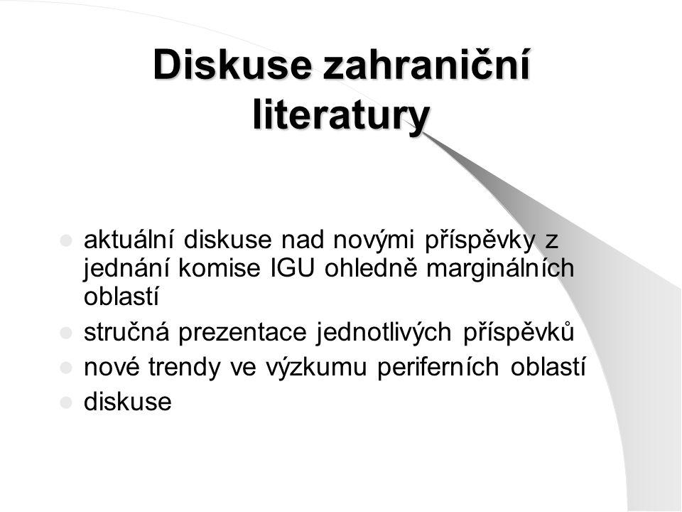 Diskuse zahraniční literatury