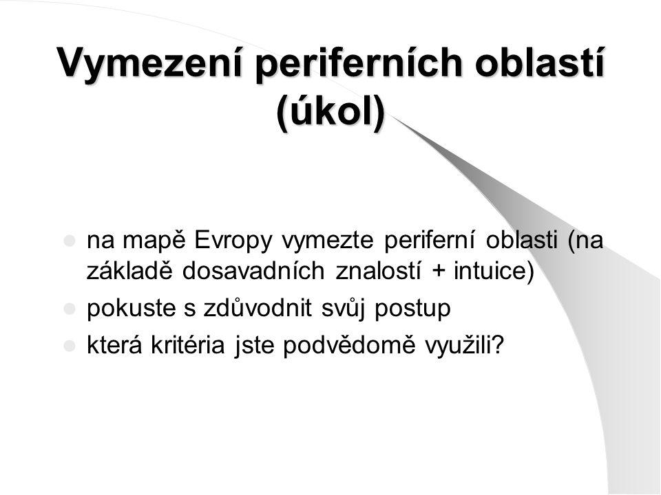 Vymezení periferních oblastí (úkol)