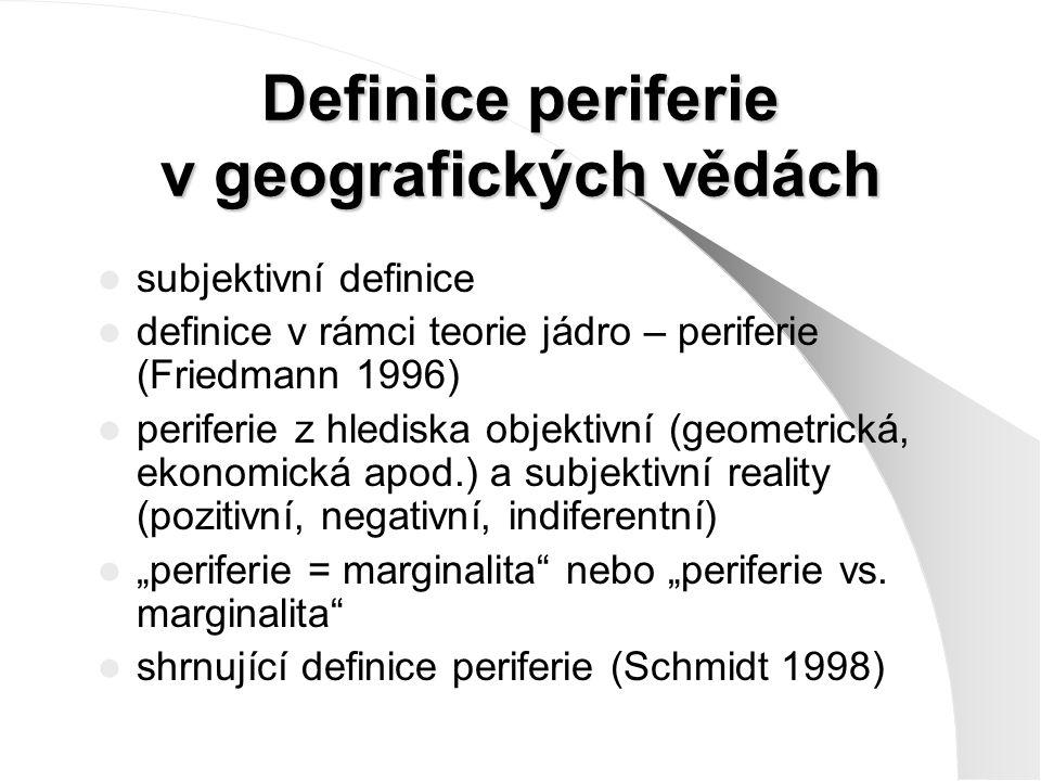 Definice periferie v geografických vědách