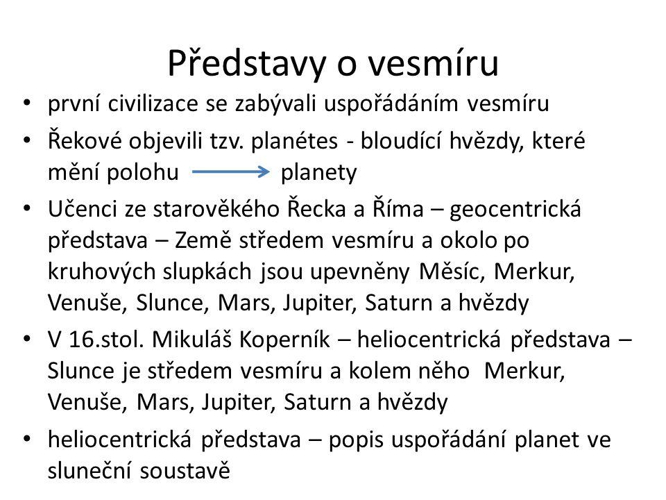 Představy o vesmíru první civilizace se zabývali uspořádáním vesmíru