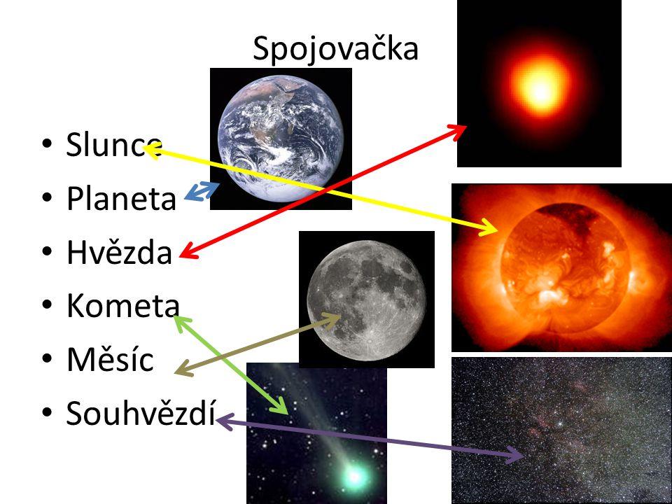 Spojovačka Slunce Planeta Hvězda Kometa Měsíc Souhvězdí