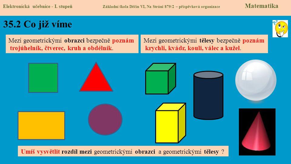 35.2 Co již víme Mezi geometrickými obrazci bezpečně poznám