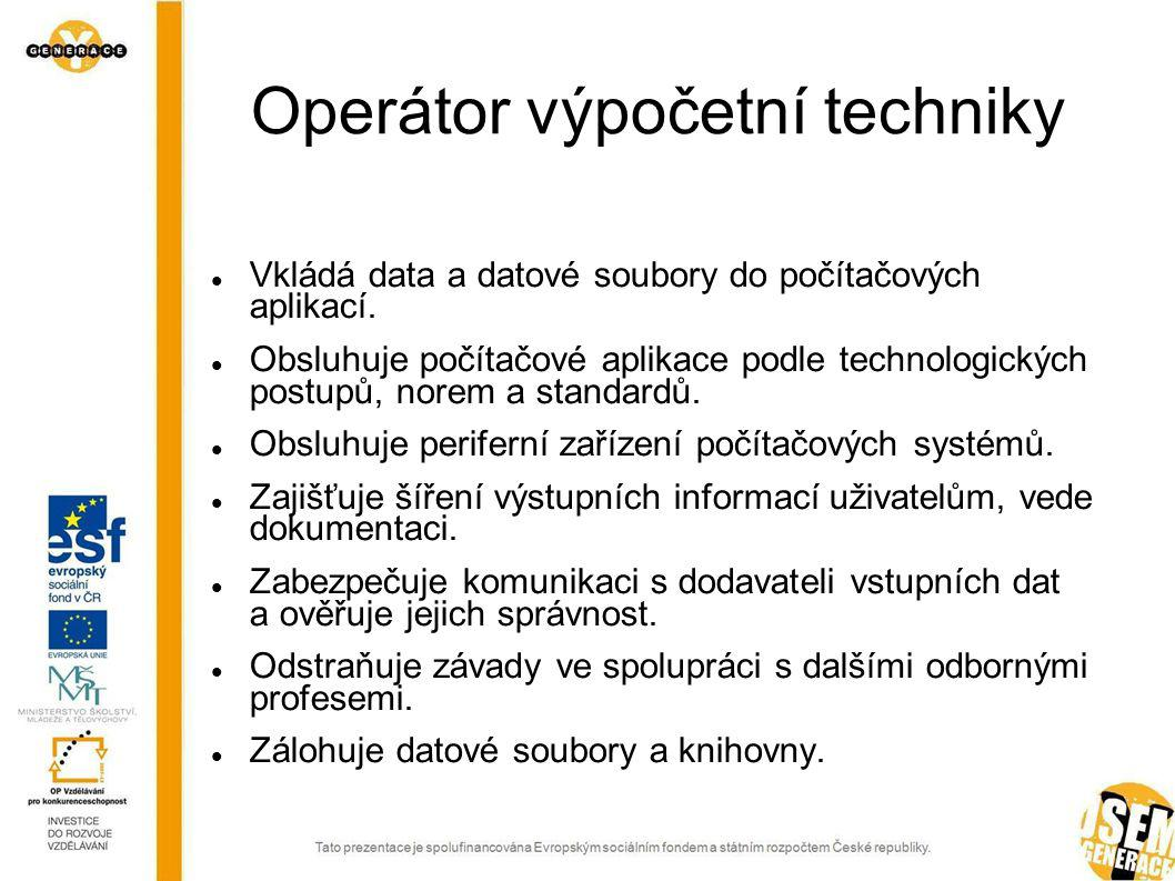 Operátor výpočetní techniky