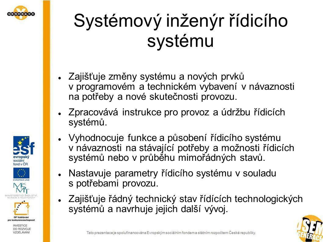 Systémový inženýr řídicího systému
