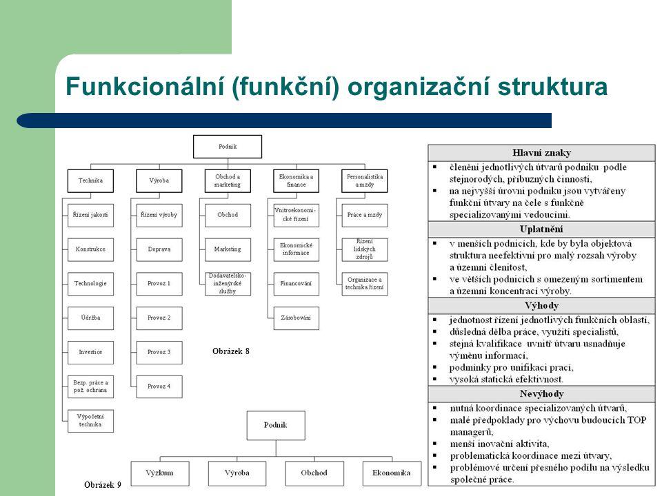 Funkcionální (funkční) organizační struktura