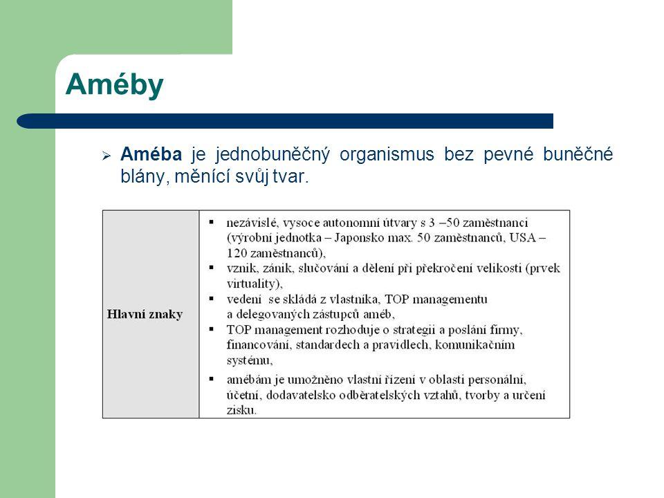 Améby Améba je jednobuněčný organismus bez pevné buněčné blány, měnící svůj tvar.