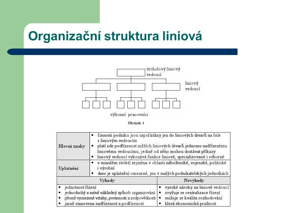 Organizační struktura liniová