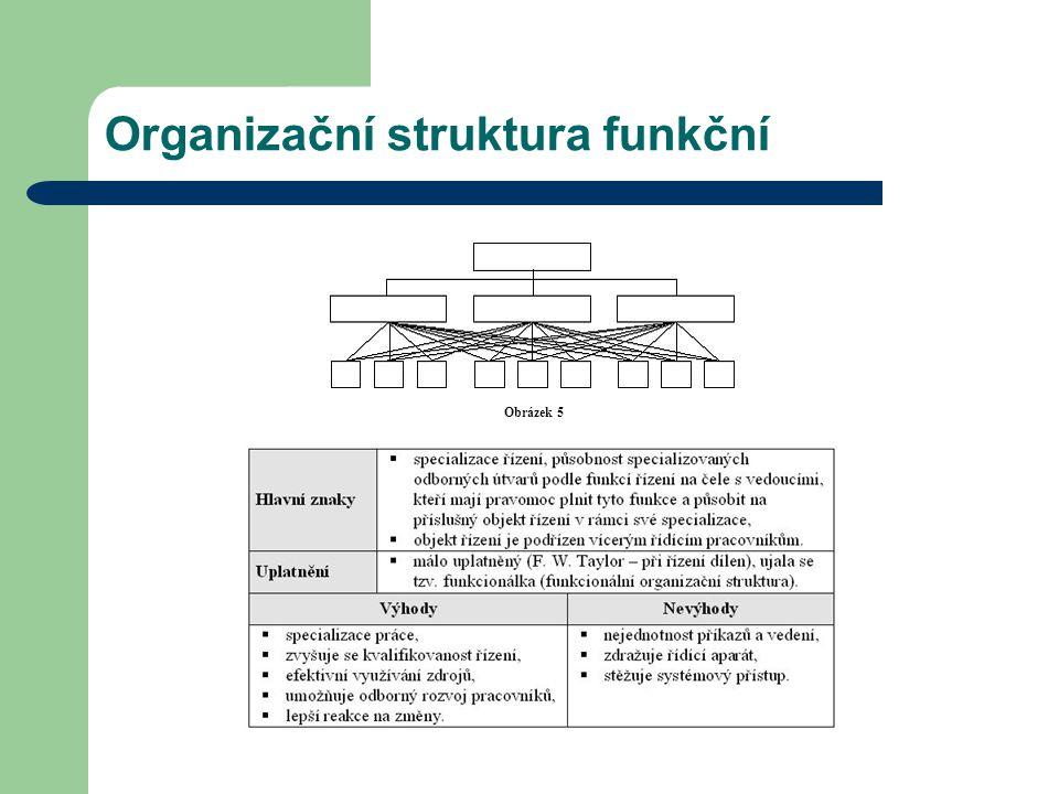 Organizační struktura funkční