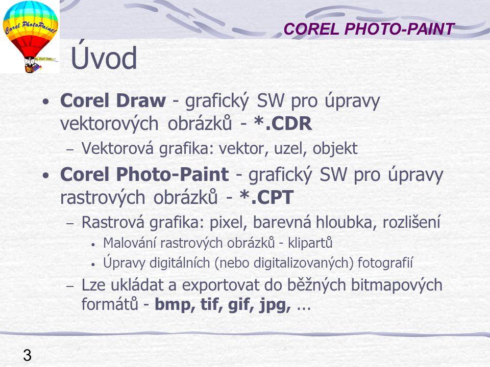 Úvod Corel Draw - grafický SW pro úpravy vektorových obrázků - *.CDR
