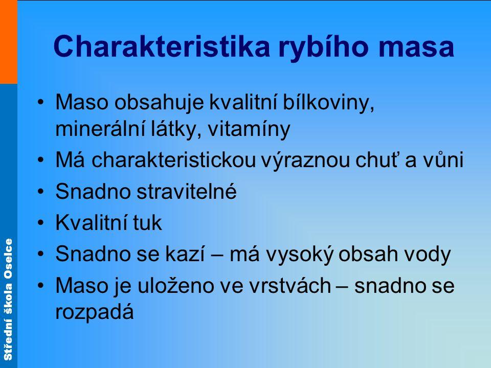 Charakteristika rybího masa