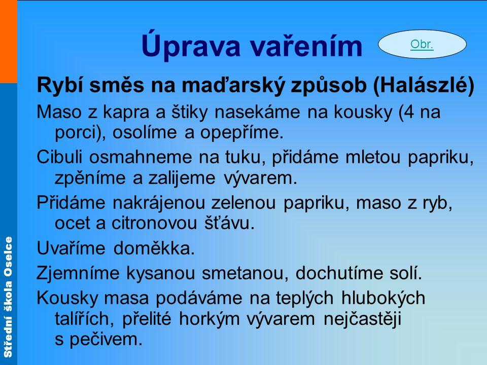 Úprava vařením Rybí směs na maďarský způsob (Halászlé)