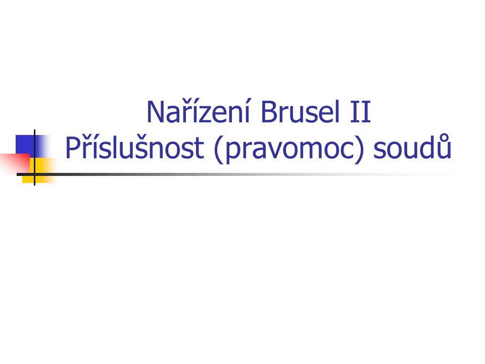 Nařízení Brusel II Příslušnost (pravomoc) soudů