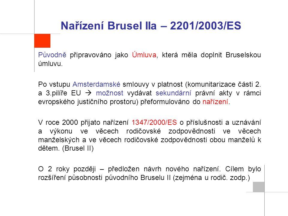 Nařízení Brusel IIa – 2201/2003/ES