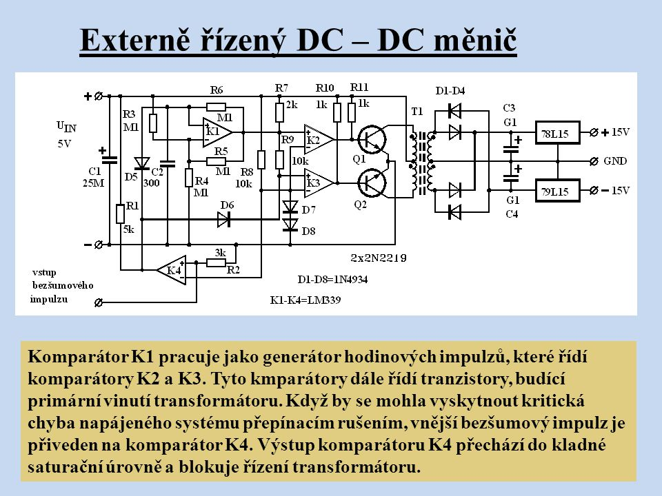 Externě řízený DC – DC měnič