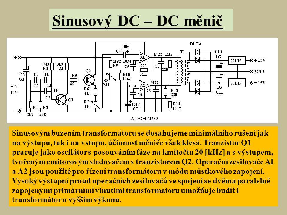 Sinusový DC – DC měnič