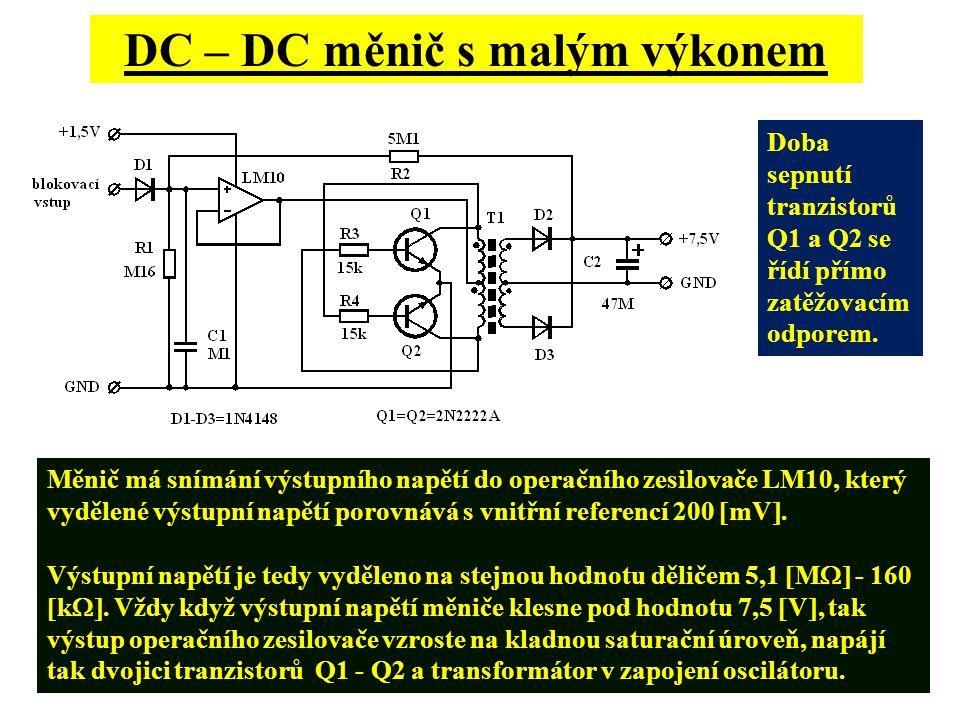 DC – DC měnič s malým výkonem