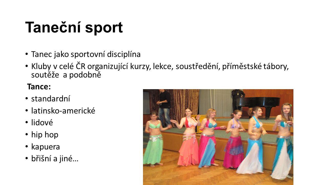 Taneční sport Tanec jako sportovní disciplína