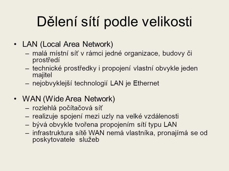Dělení sítí podle velikosti
