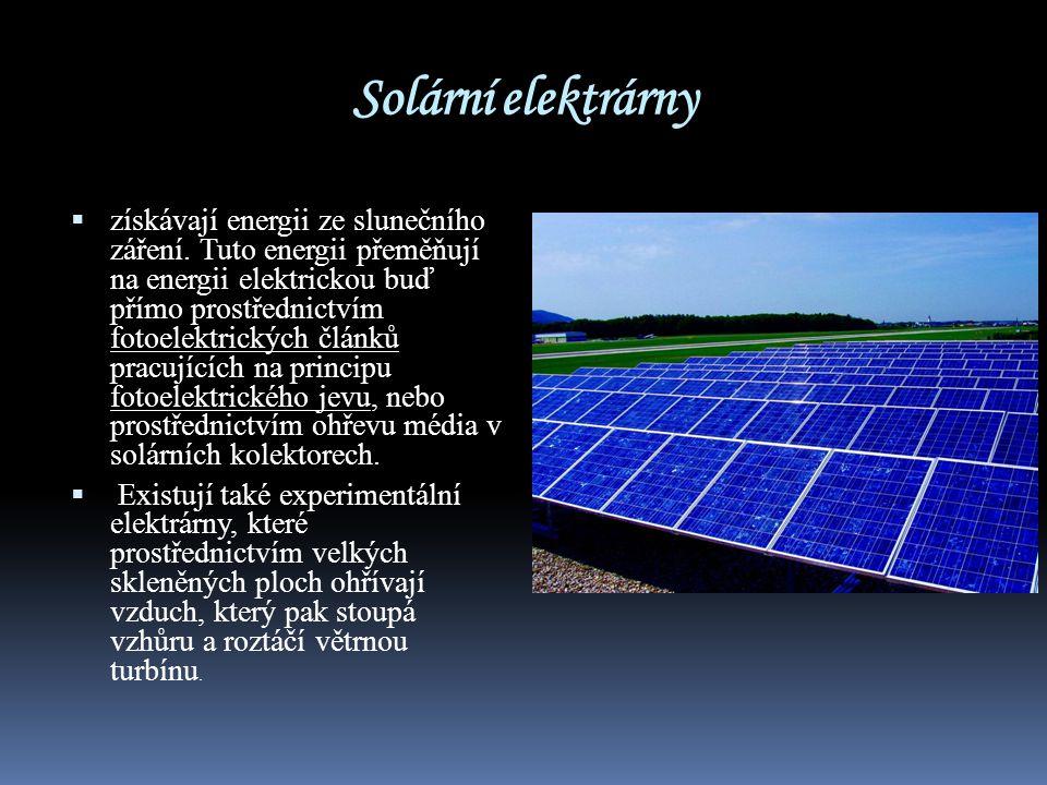 Solární elektrárny