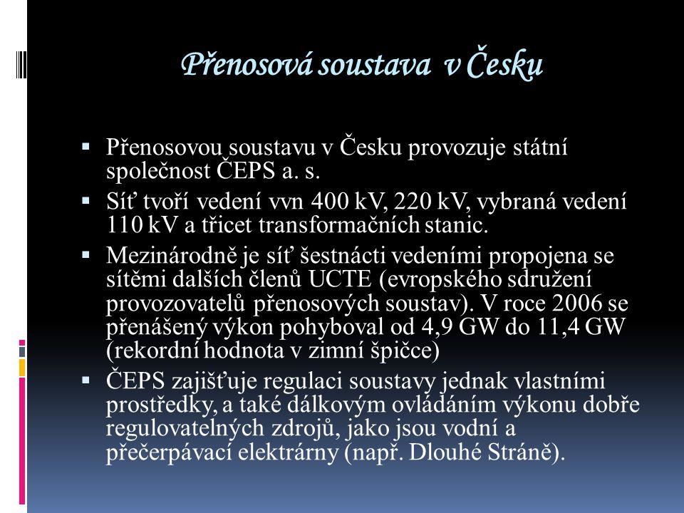 Přenosová soustava v Česku