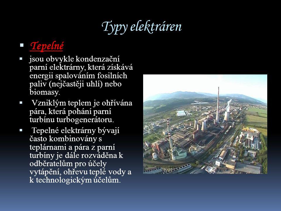 Typy elektráren Tepelné