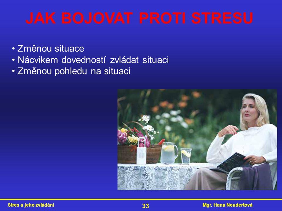 JAK BOJOVAT PROTI STRESU