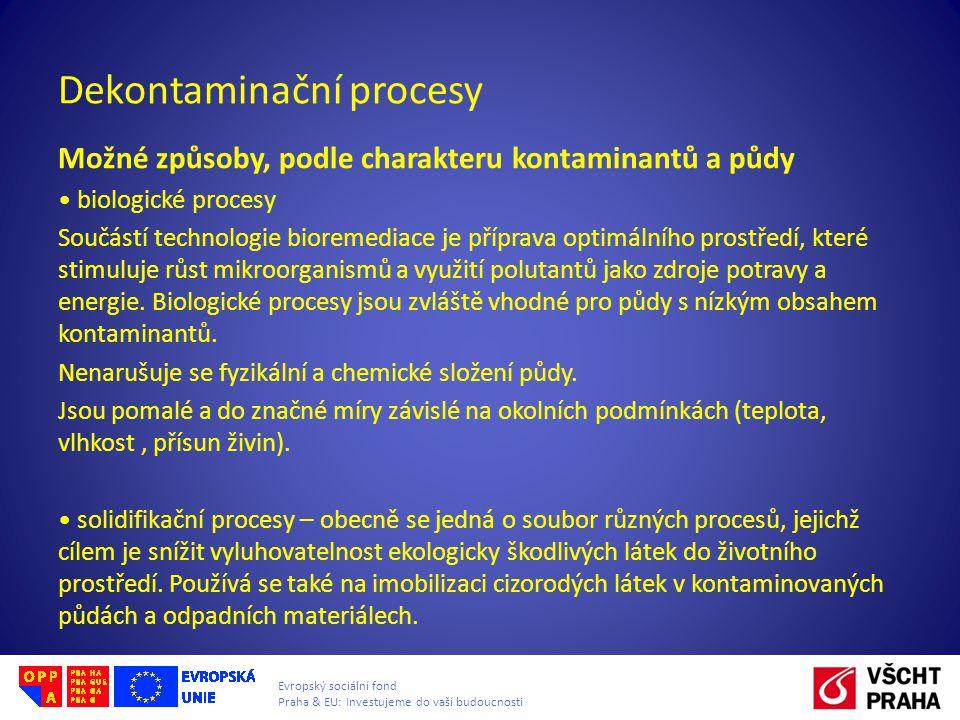 Dekontaminační procesy