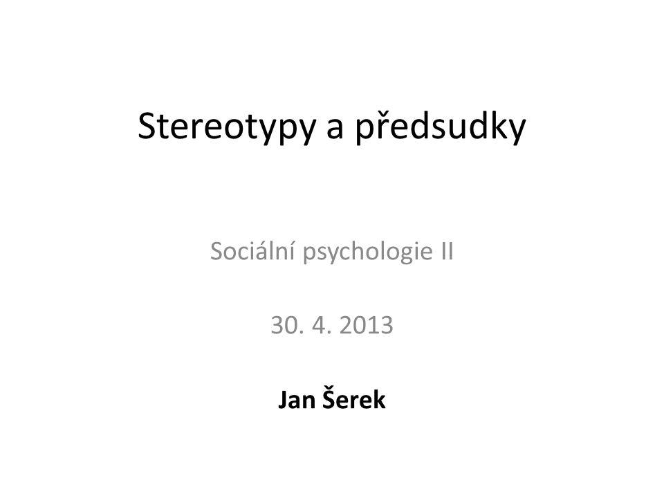 Stereotypy a předsudky