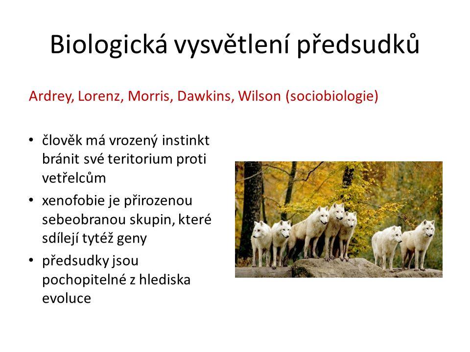 Biologická vysvětlení předsudků