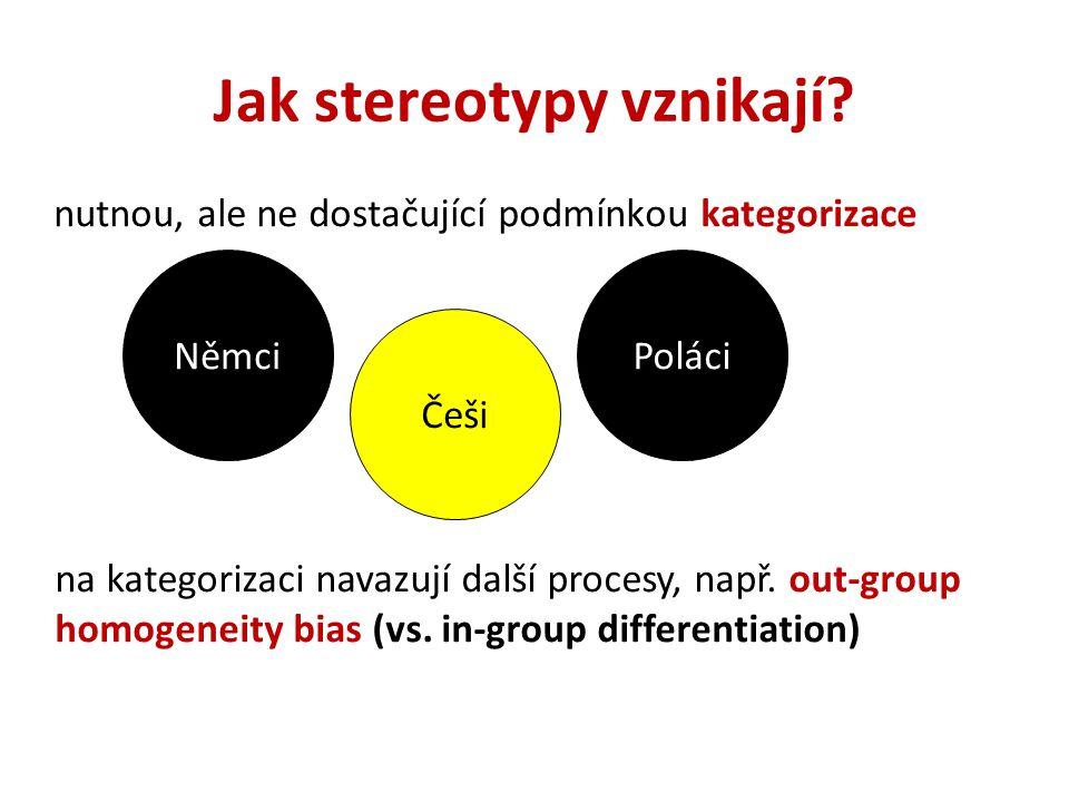 Jak stereotypy vznikají