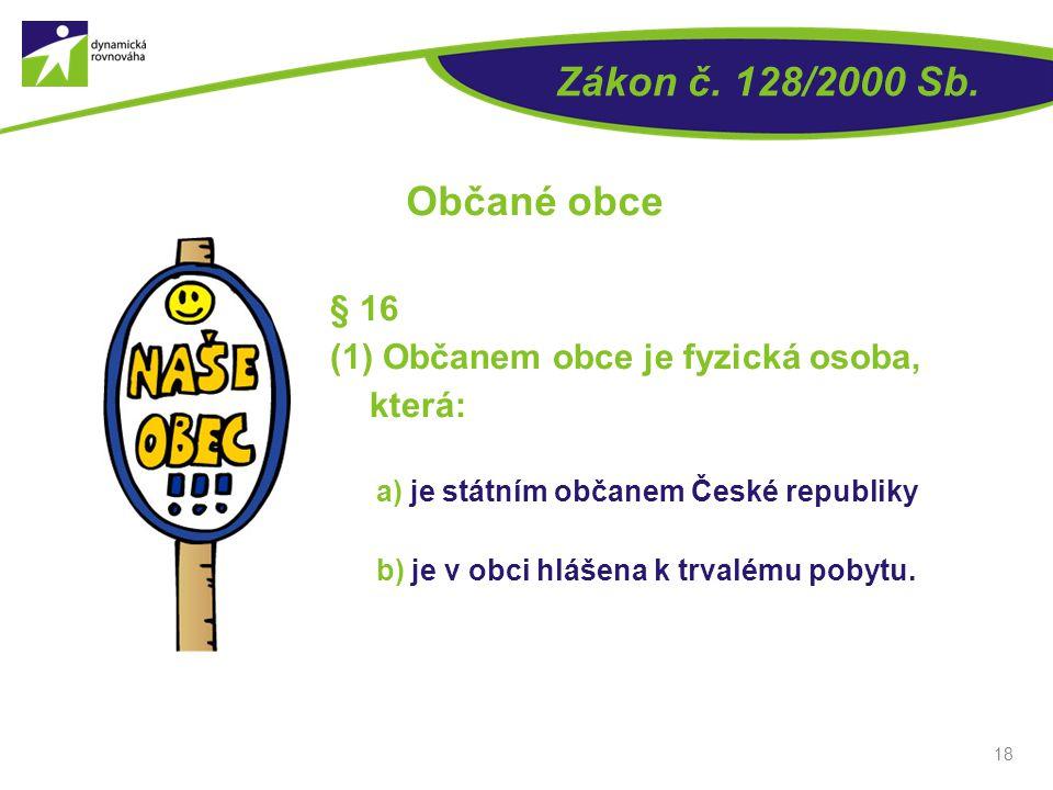 Zákon č. 128/2000 Sb. Občané obce § 16