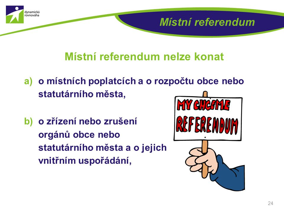 Místní referendum nelze konat