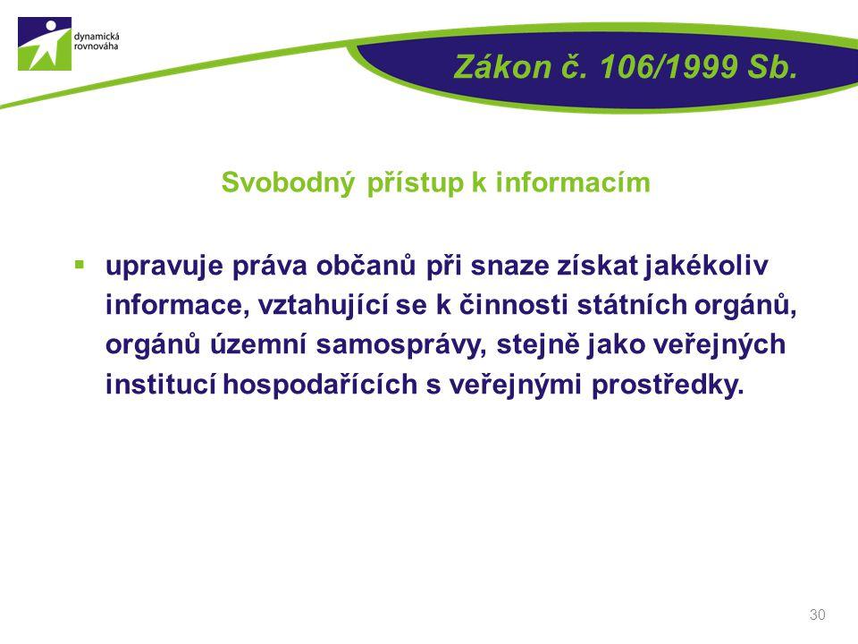 Svobodný přístup k informacím