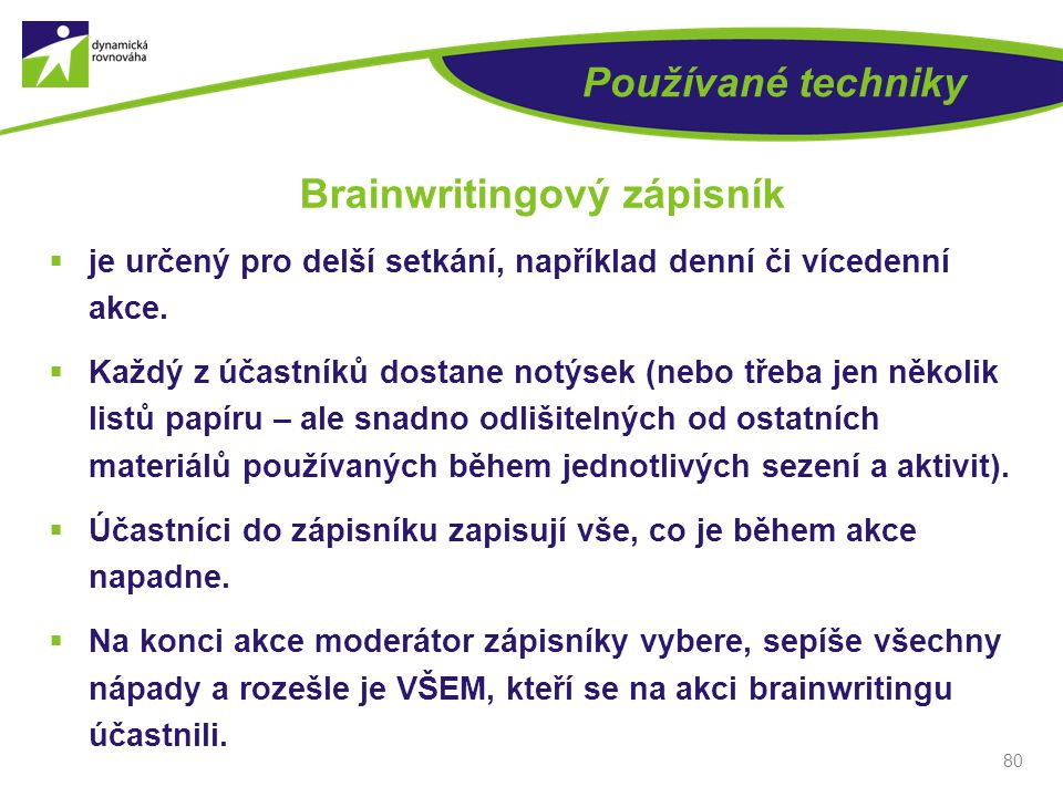 Brainwritingový zápisník