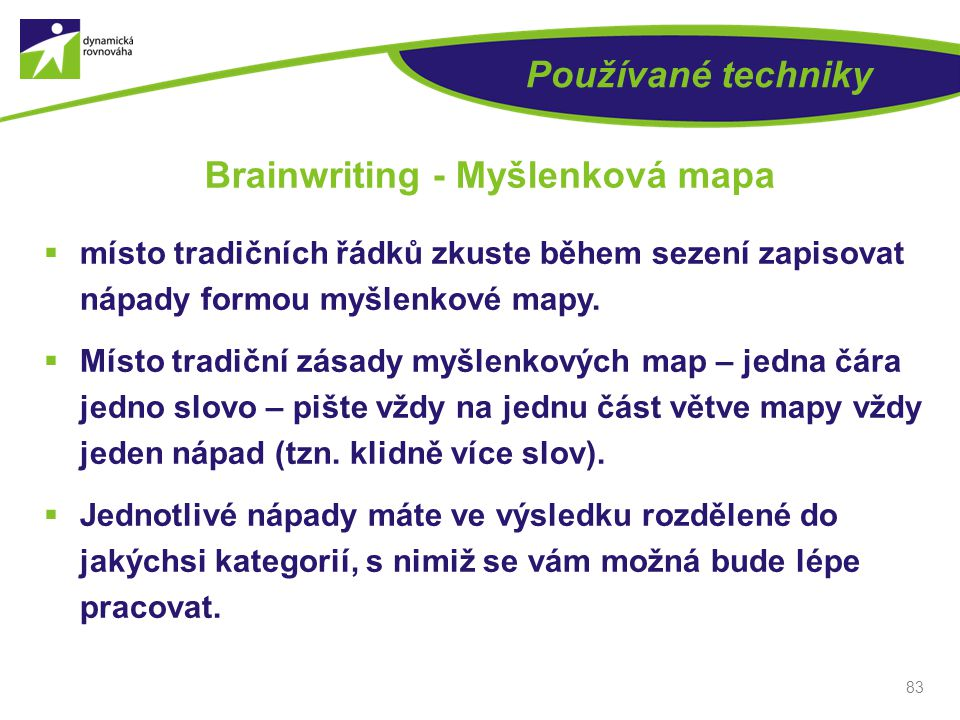 Brainwriting - Myšlenková mapa