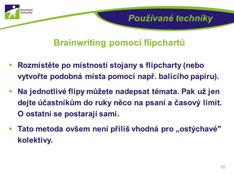 Brainwriting pomocí flipchartů