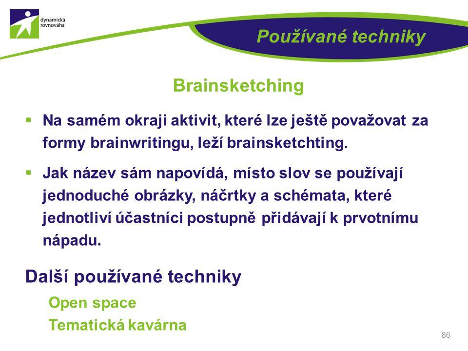 Brainsketching Používané techniky Další používané techniky