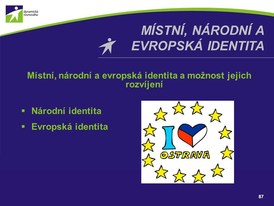 Místní, národní a Evropská identita