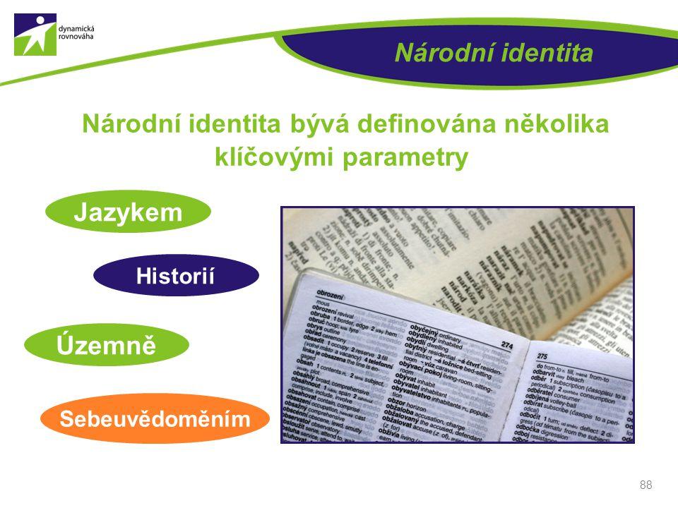 Národní identita bývá definována několika klíčovými parametry