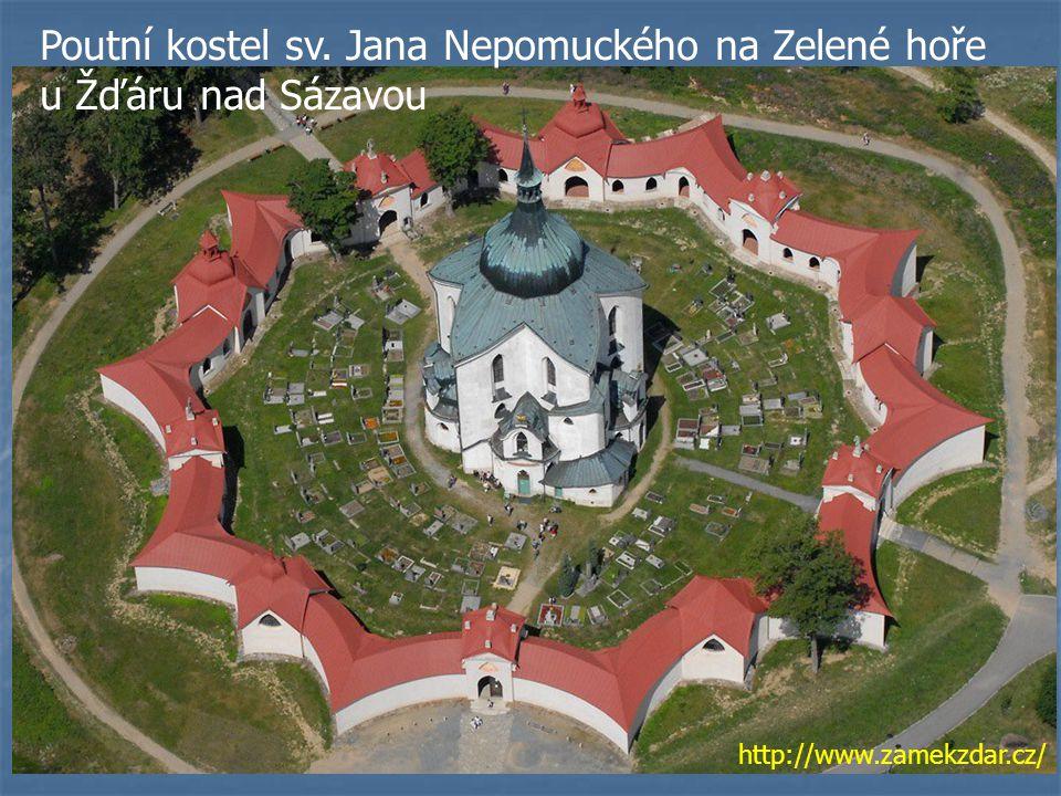 Poutní kostel sv. Jana Nepomuckého na Zelené hoře u Žďáru nad Sázavou