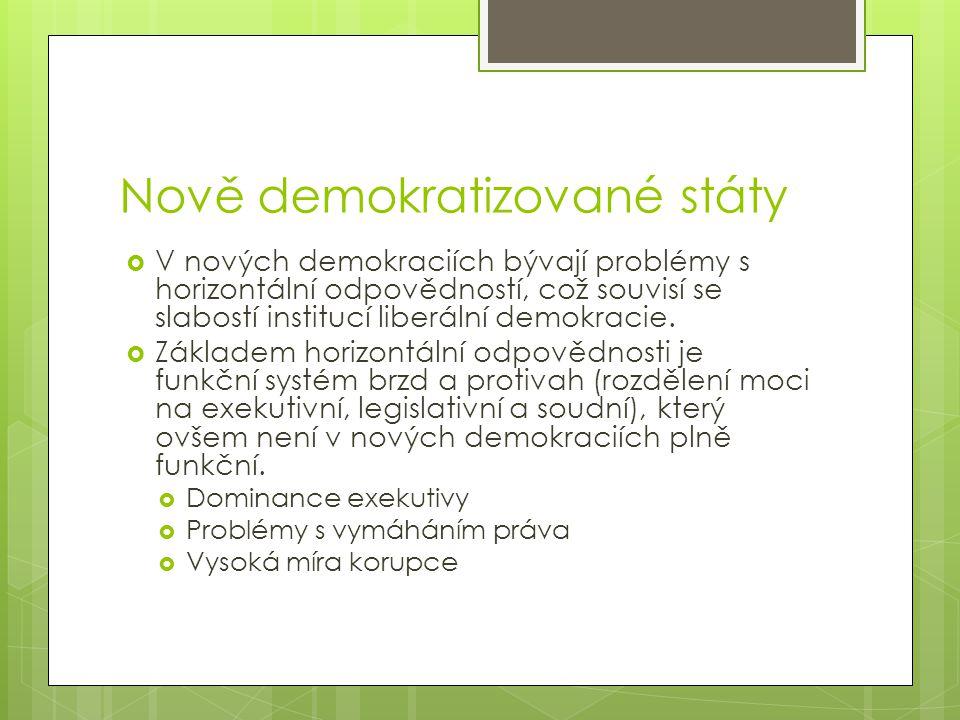 Nově demokratizované státy