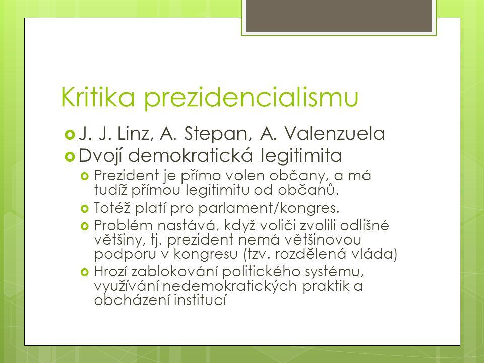 Kritika prezidencialismu