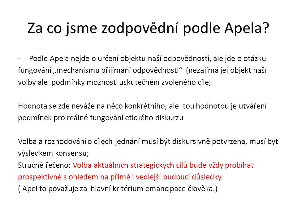 Za co jsme zodpovědní podle Apela