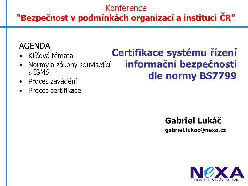 Konference Bezpečnost v podmínkách organizací a institucí ČR