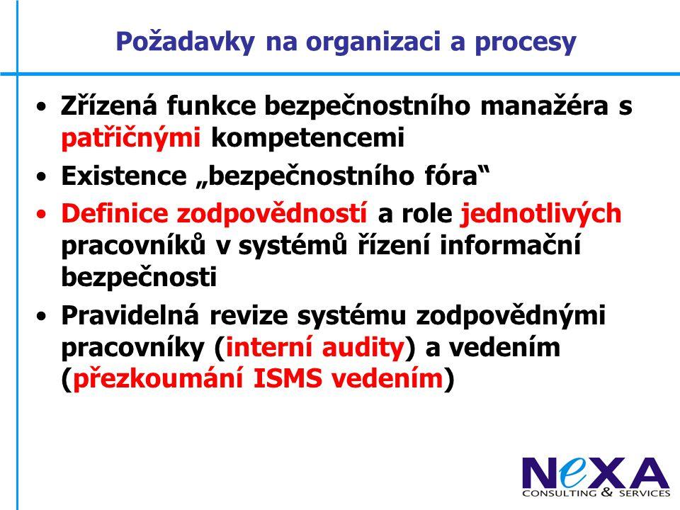 Požadavky na organizaci a procesy