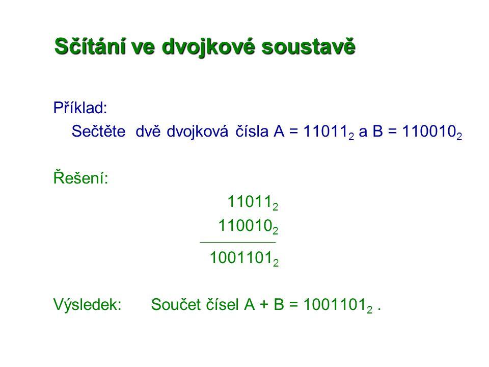 Sčítání ve dvojkové soustavě