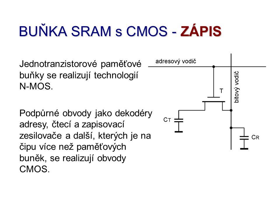 BUŇKA SRAM s CMOS - ZÁPIS