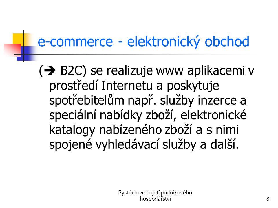 e-commerce - elektronický obchod